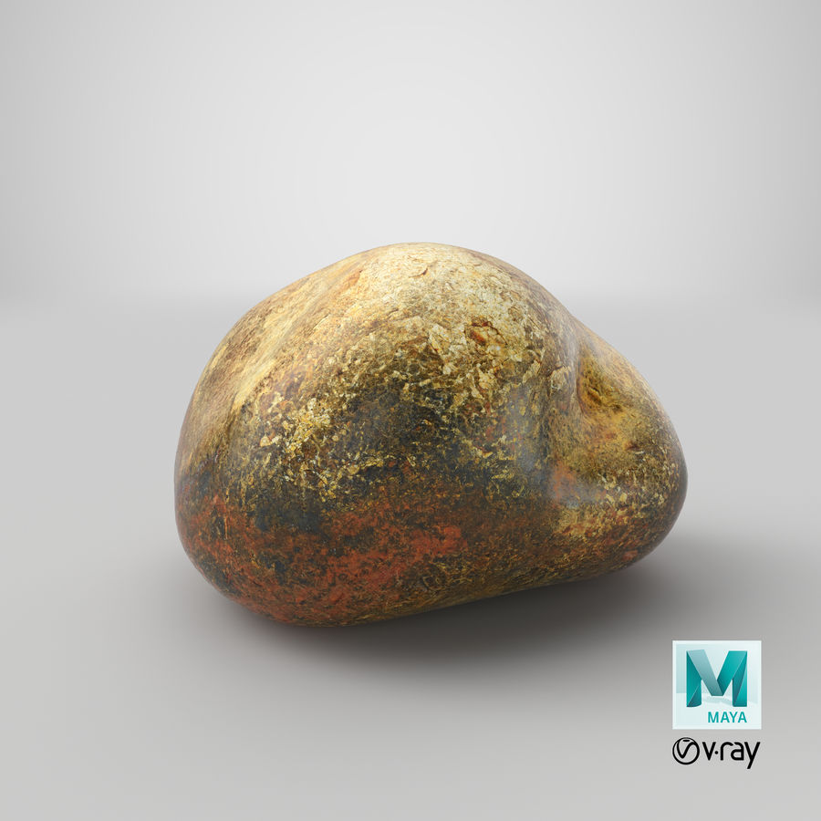 Smooth River Rock 01(1) royalty-free 3d model - Preview no. 30