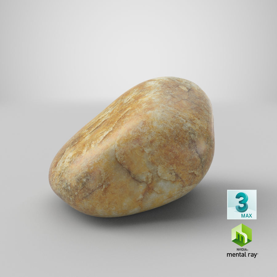 Smooth River Rock 02 royalty-free 3d model - Preview no. 26