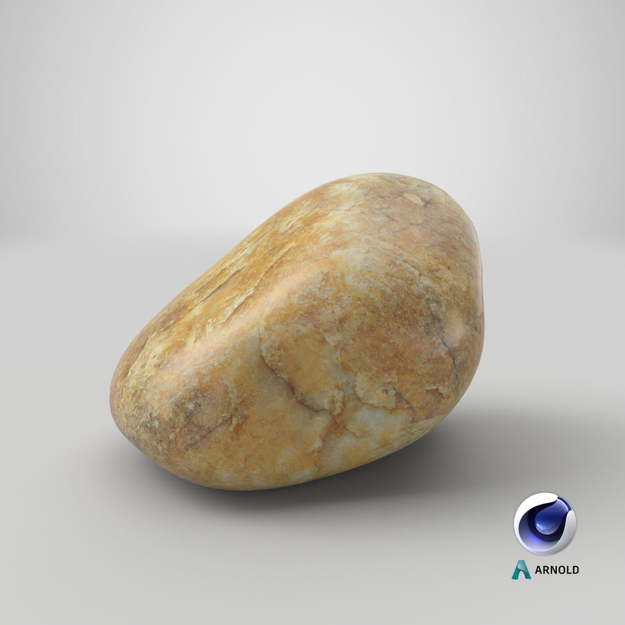 Smooth River Rock 02 royalty-free 3d model - Preview no. 24