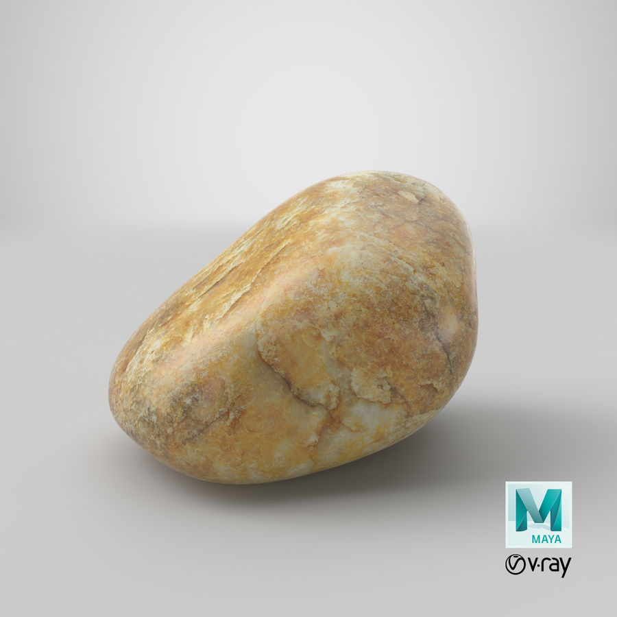 Smooth River Rock 02 royalty-free 3d model - Preview no. 30