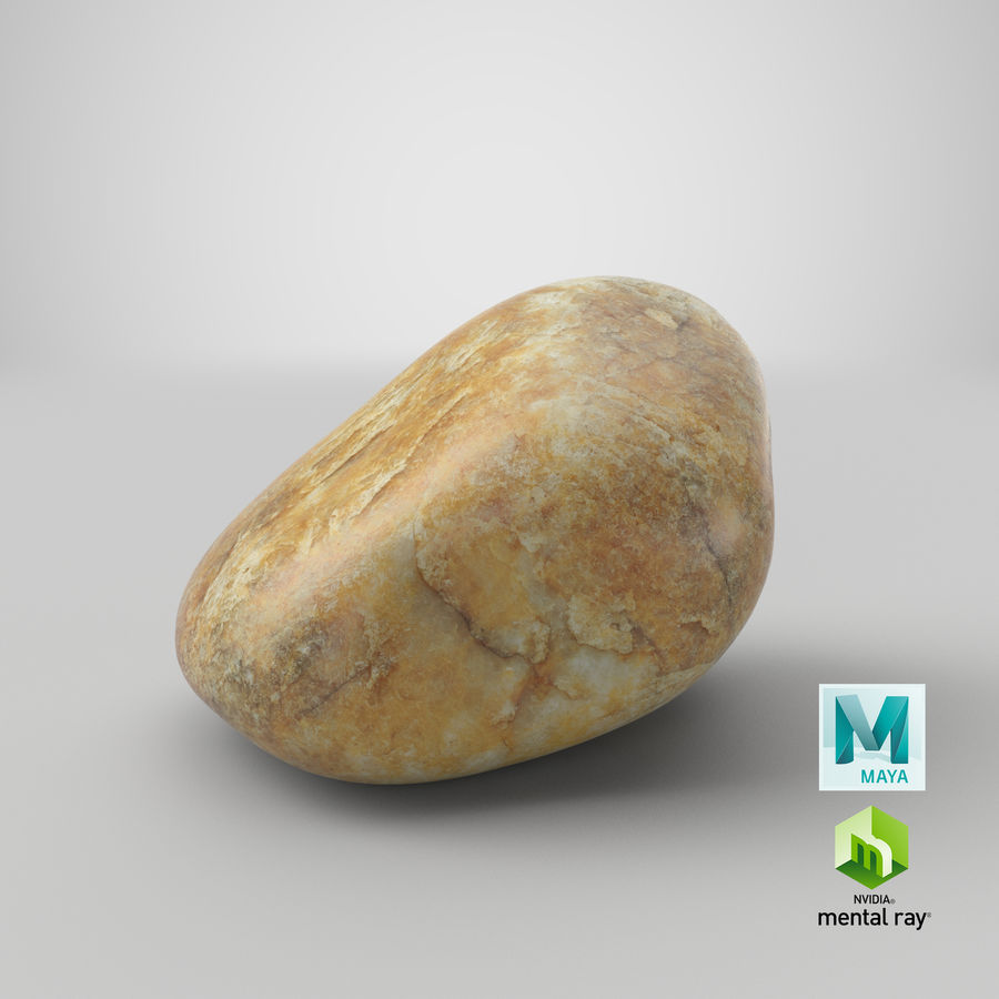 Smooth River Rock 02 royalty-free 3d model - Preview no. 29