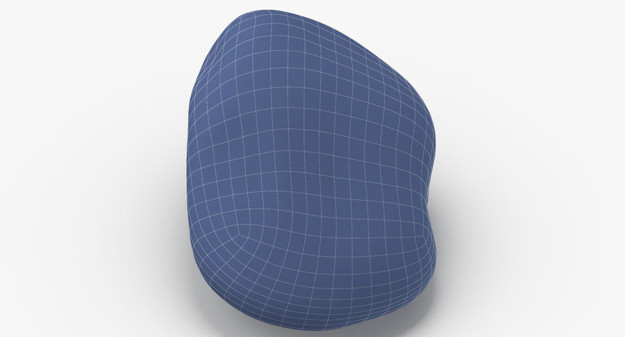 Smooth River Rock 02 royalty-free 3d model - Preview no. 16