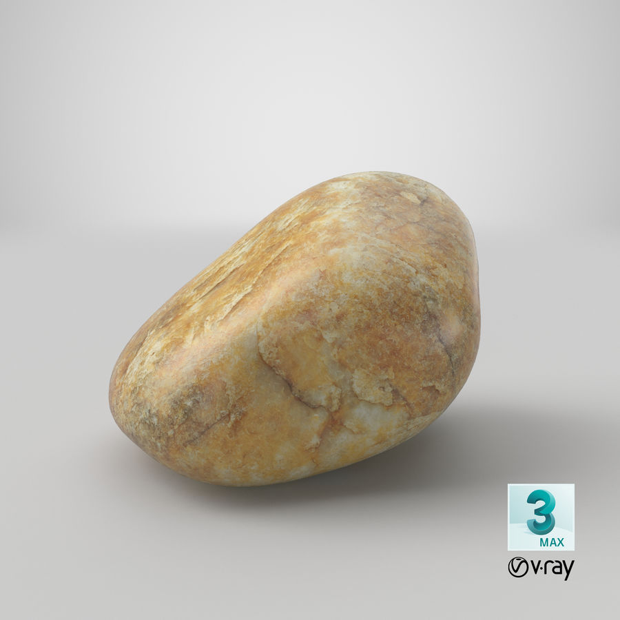 Smooth River Rock 02 royalty-free 3d model - Preview no. 27