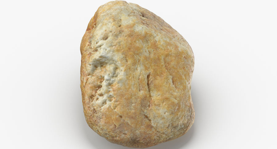 Smooth River Rock 02 royalty-free 3d model - Preview no. 8