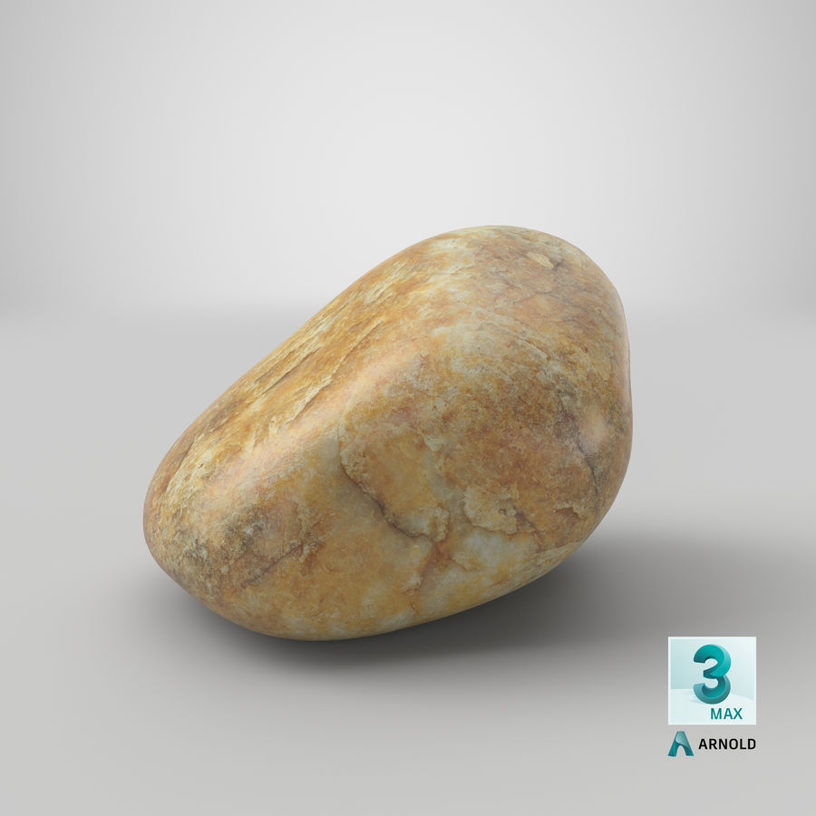 Smooth River Rock 02 royalty-free 3d model - Preview no. 25