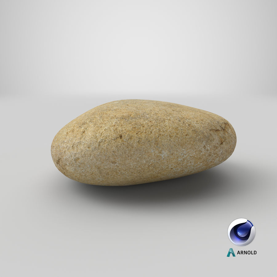 Smooth River Rock 09 royalty-free 3d model - Preview no. 23