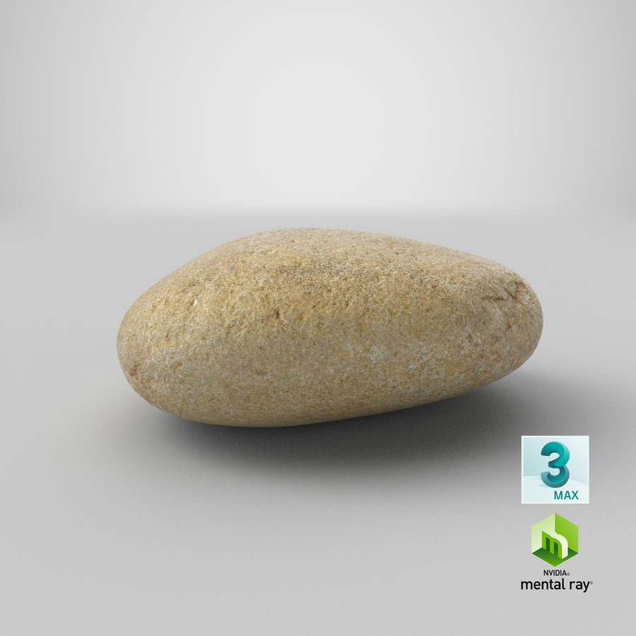 Smooth River Rock 09 royalty-free 3d model - Preview no. 25