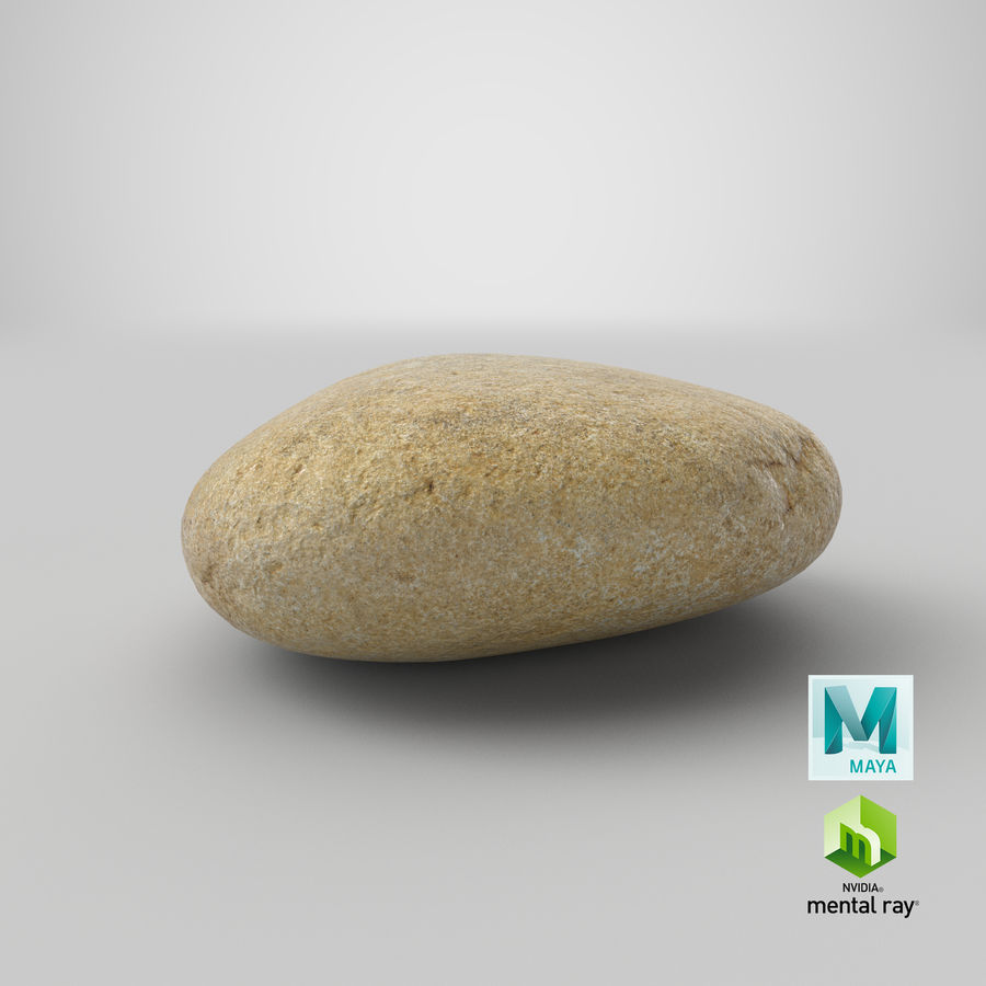Smooth River Rock 09 royalty-free 3d model - Preview no. 28