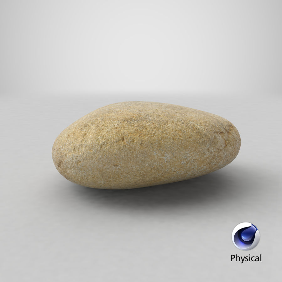 Smooth River Rock 09 royalty-free 3d model - Preview no. 22