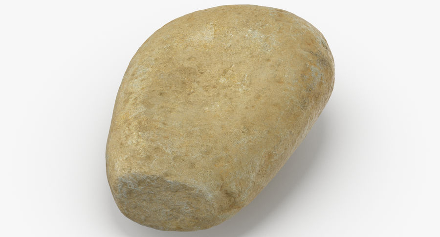 Smooth River Rock 15 royalty-free 3d model - Preview no. 3