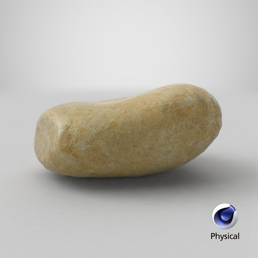 Smooth River Rock 15 royalty-free 3d model - Preview no. 22
