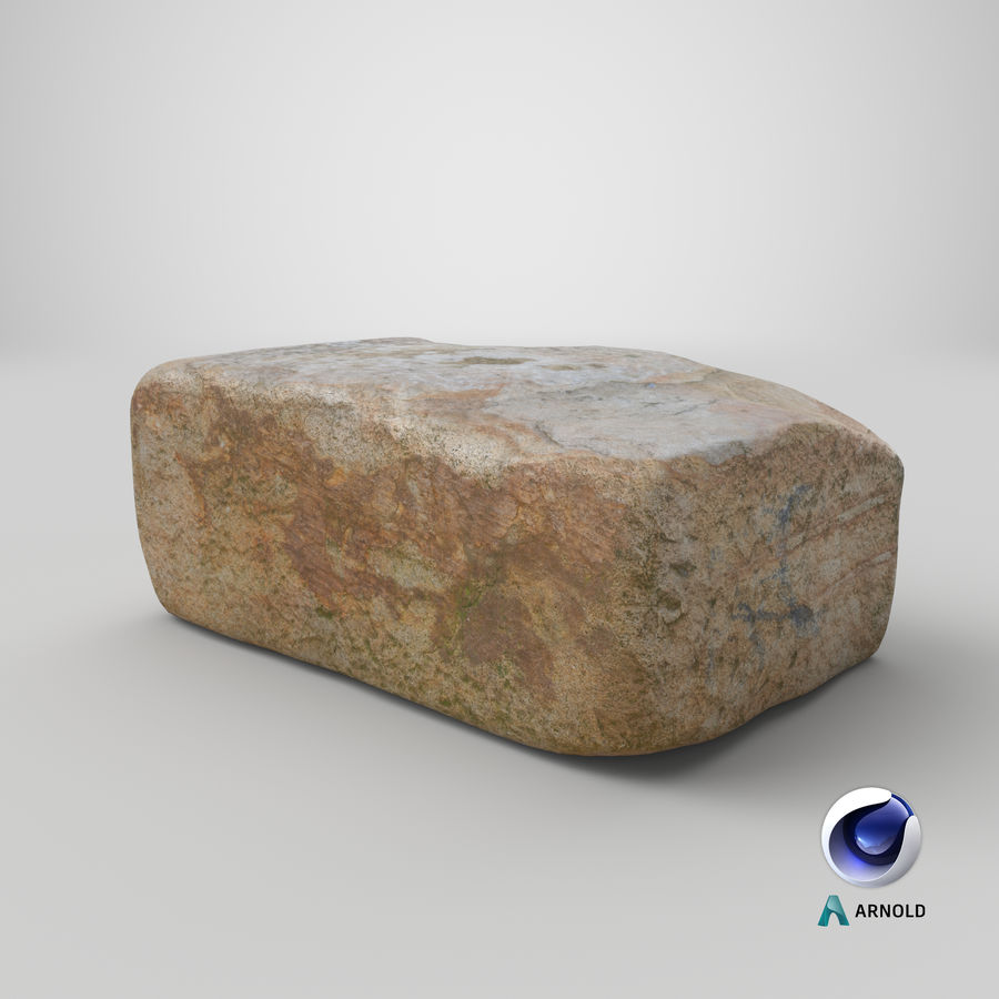 Stone Block 02 royalty-free 3d model - Preview no. 23