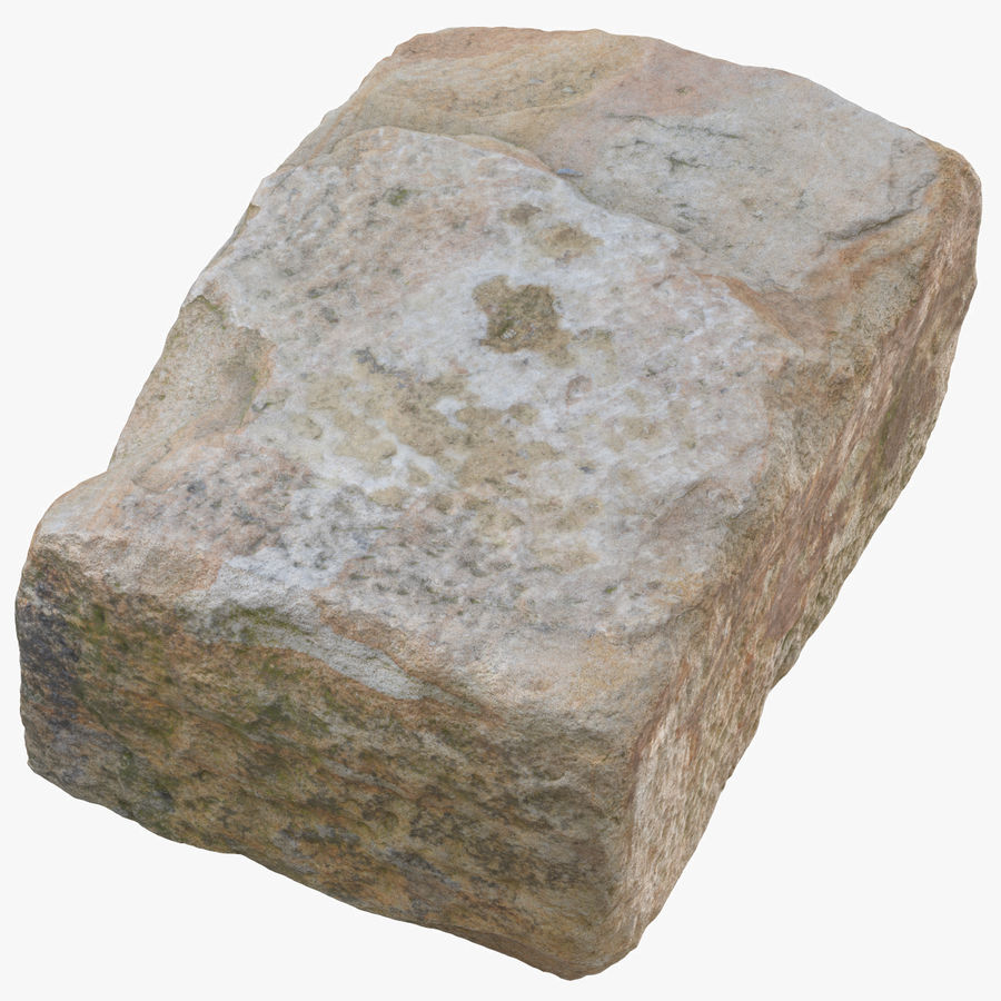 Stone Block 02 royalty-free 3d model - Preview no. 1