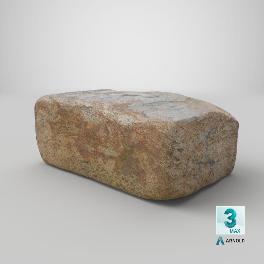 Stone Block 02 royalty-free 3d model - Preview no. 24