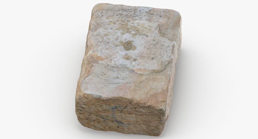 Stone Block 02 royalty-free 3d model - Preview no. 7