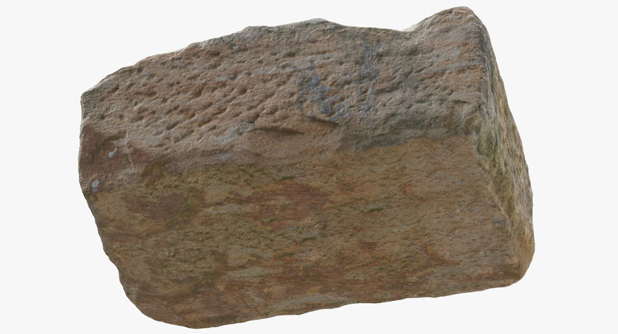 Stone Block 02 royalty-free 3d model - Preview no. 10