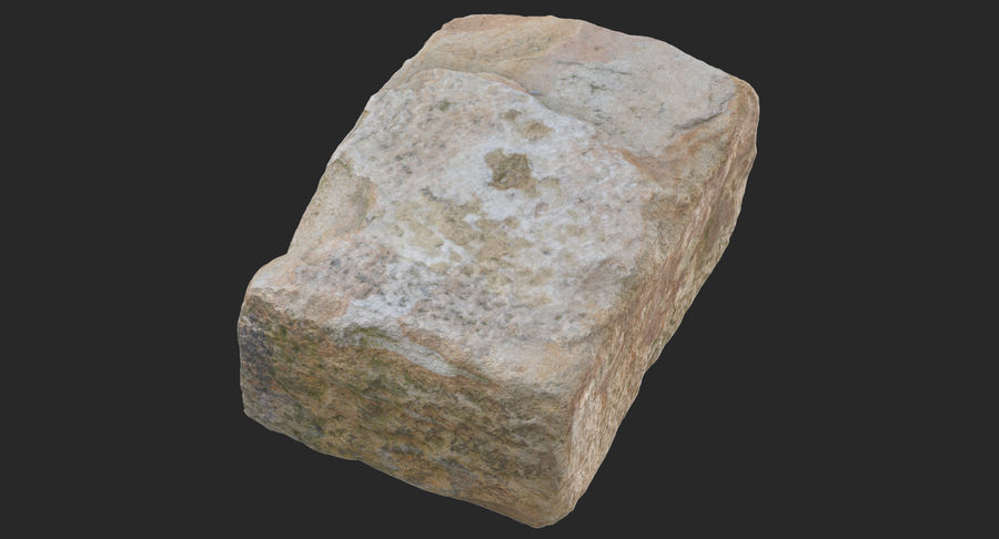 Stone Block 02 royalty-free 3d model - Preview no. 4