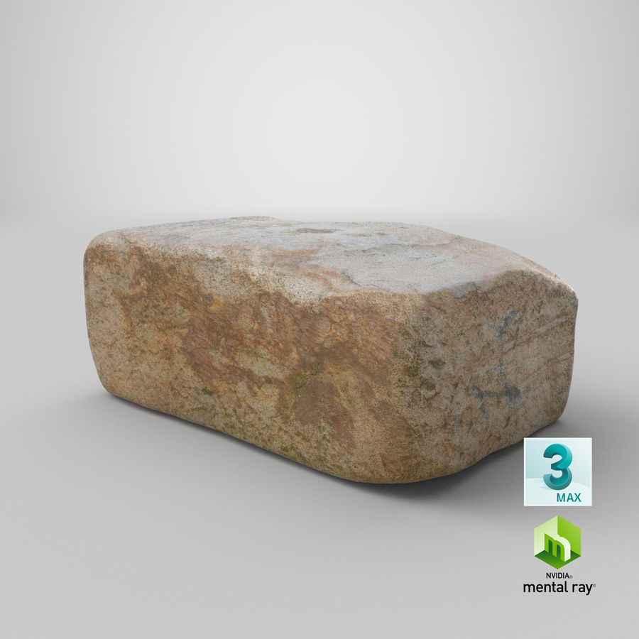 Stone Block 02 royalty-free 3d model - Preview no. 25