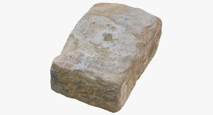 Stone Block 02 royalty-free 3d model - Preview no. 2