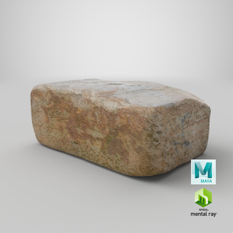 Stone Block 02 royalty-free 3d model - Preview no. 28