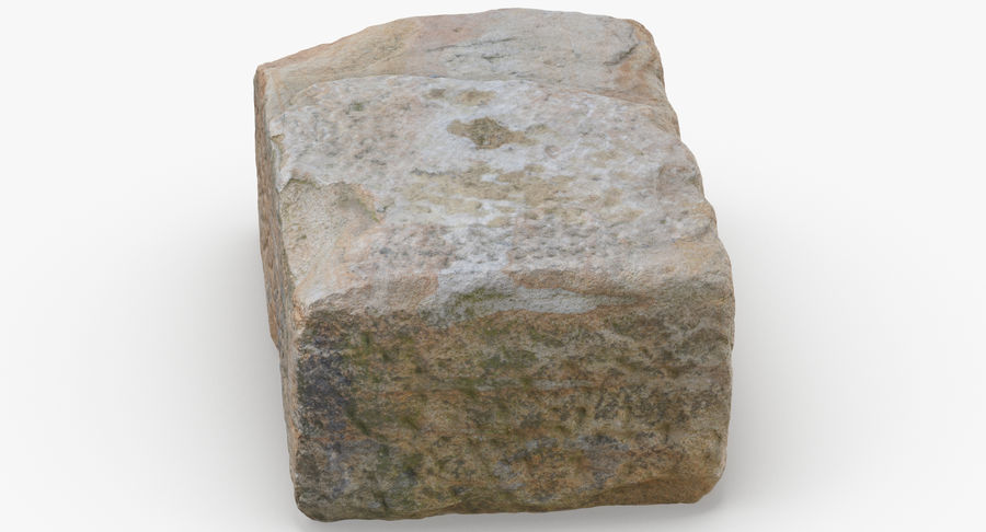Stone Block 02 royalty-free 3d model - Preview no. 8