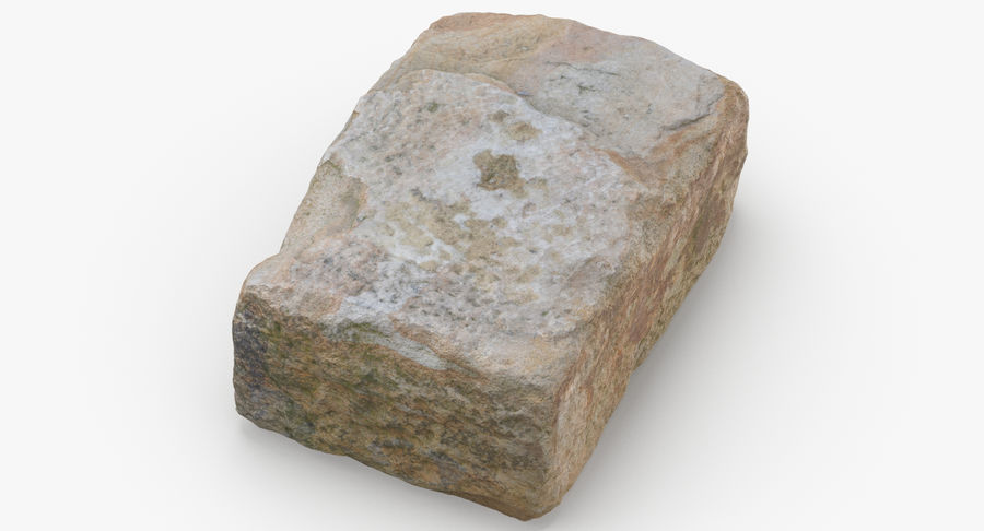 Stone Block 02 royalty-free 3d model - Preview no. 3