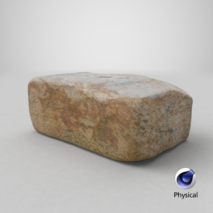 Stone Block 02 royalty-free 3d model - Preview no. 22
