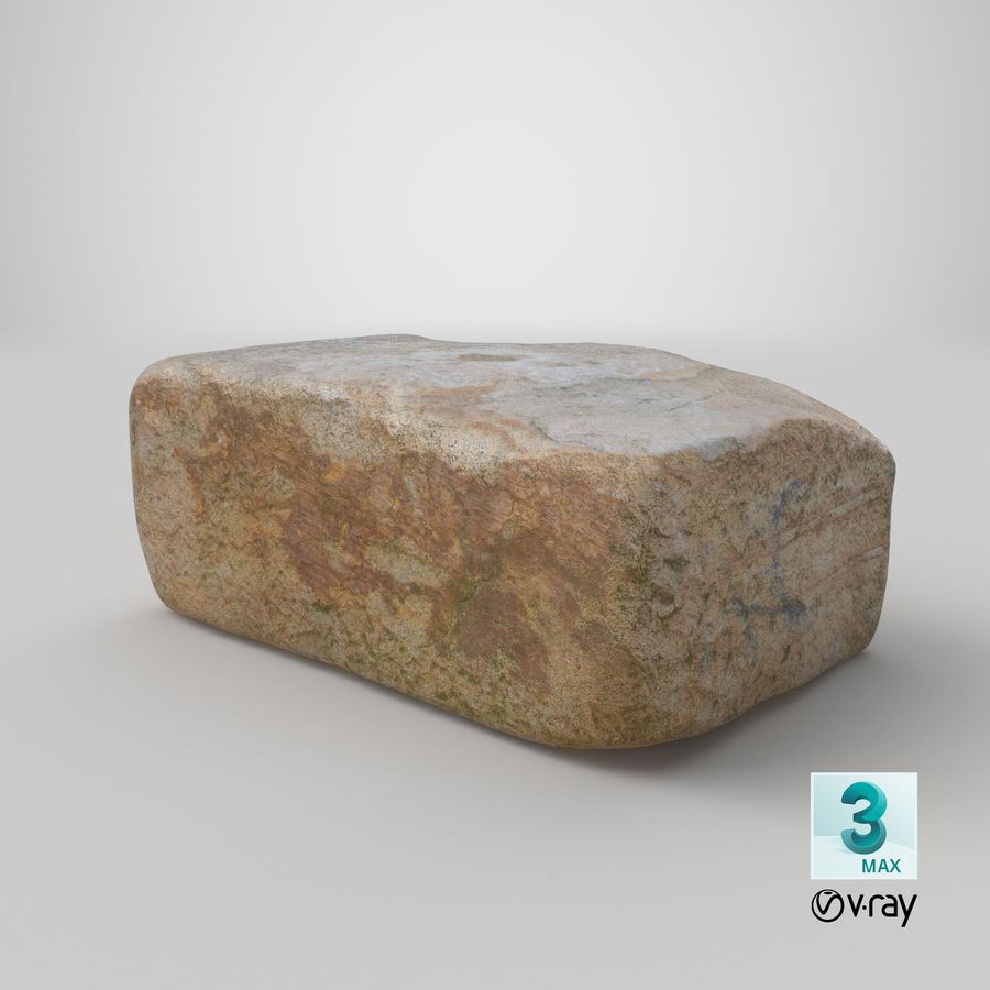 Stone Block 02 royalty-free 3d model - Preview no. 26