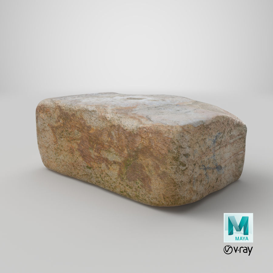 Stone Block 02 royalty-free 3d model - Preview no. 29