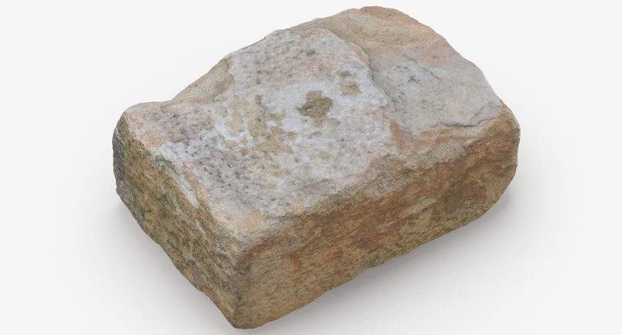 Stone Block 02 royalty-free 3d model - Preview no. 6
