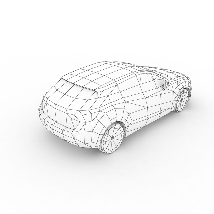 Low Poly Generic Hatchback v03 royalty-free 3d model - Preview no. 8