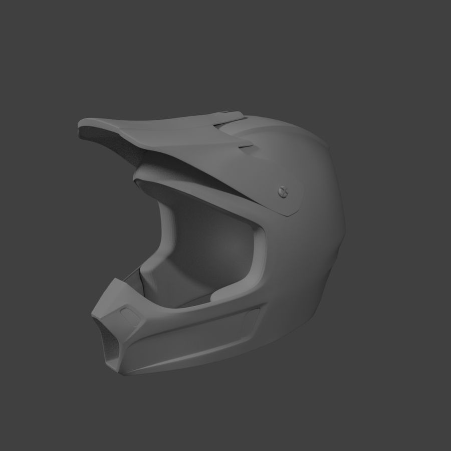 Motocross helmet royalty-free 3d model - Preview no. 2