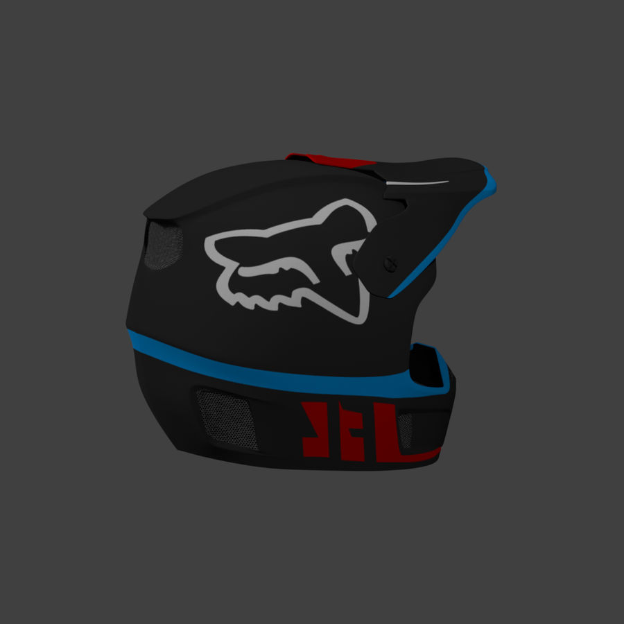Motocross helmet royalty-free 3d model - Preview no. 5