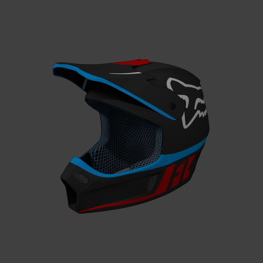 Kask Motocross royalty-free 3d model - Preview no. 1