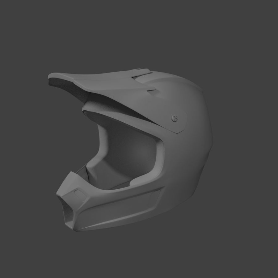 Kask Motocross royalty-free 3d model - Preview no. 2