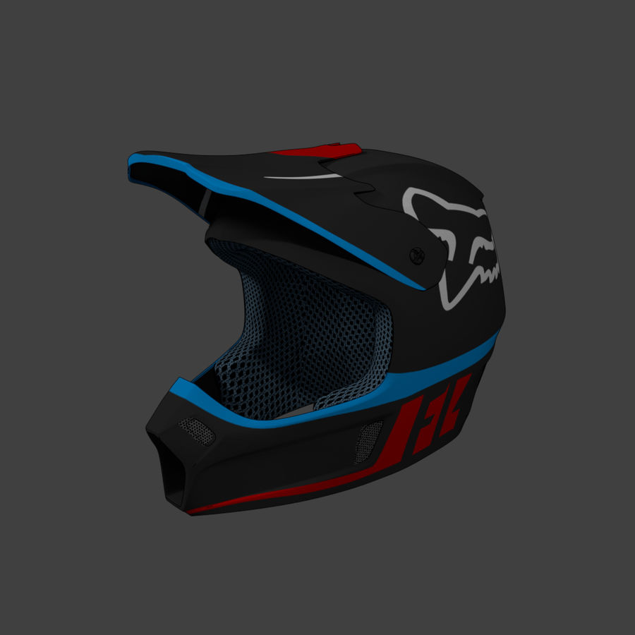 Motocross helmet royalty-free 3d model - Preview no. 1