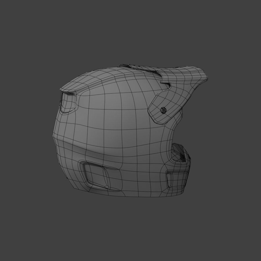 Kask Motocross royalty-free 3d model - Preview no. 7