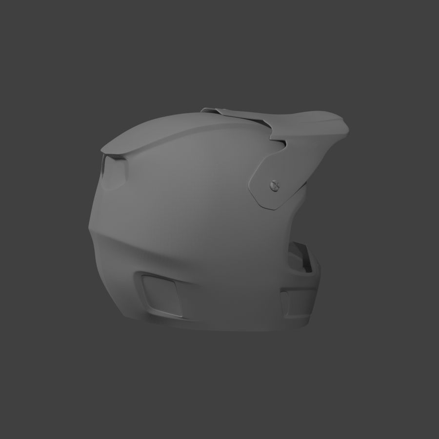 Motocross helmet royalty-free 3d model - Preview no. 6