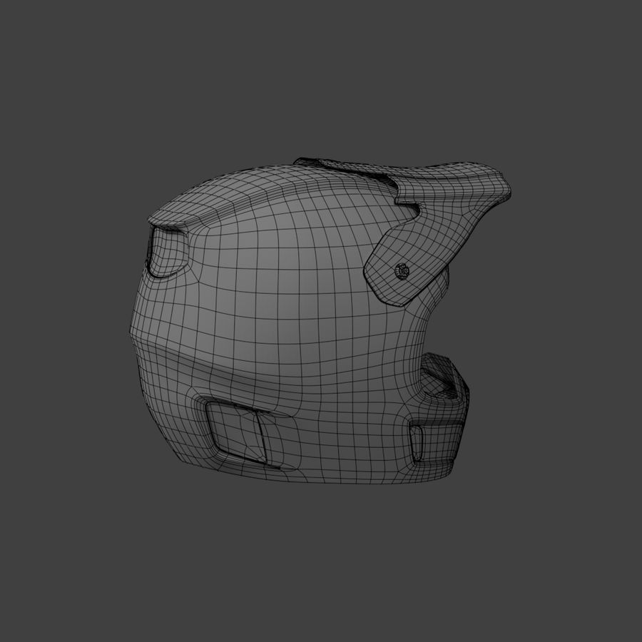 Motocross helmet royalty-free 3d model - Preview no. 8