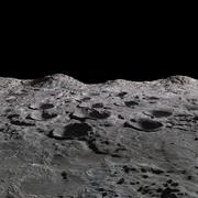 Maan landschap 3d model