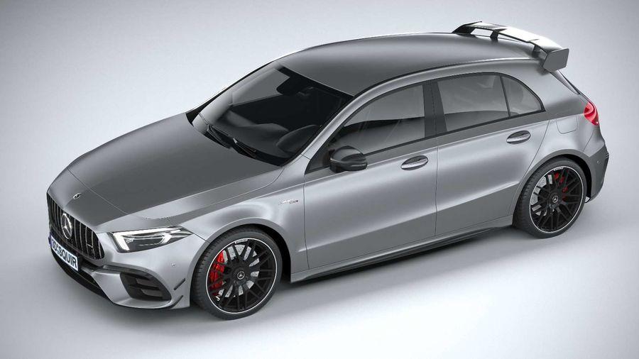 Mercedes-Benz A45 S AMG 2020 CoronaRender royalty-free 3d model - Preview no. 8