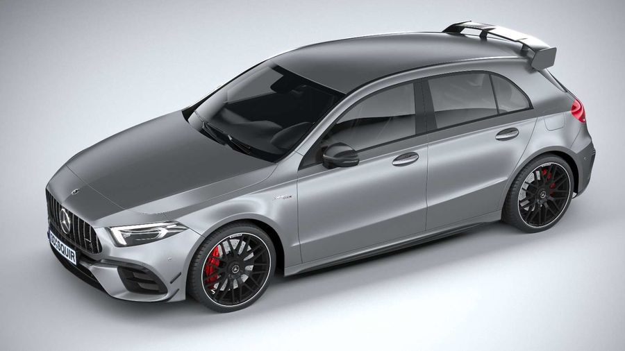 Mercedes-Benz A45 S AMG 2020 CoronaRender royalty-free 3d model - Preview no. 8
