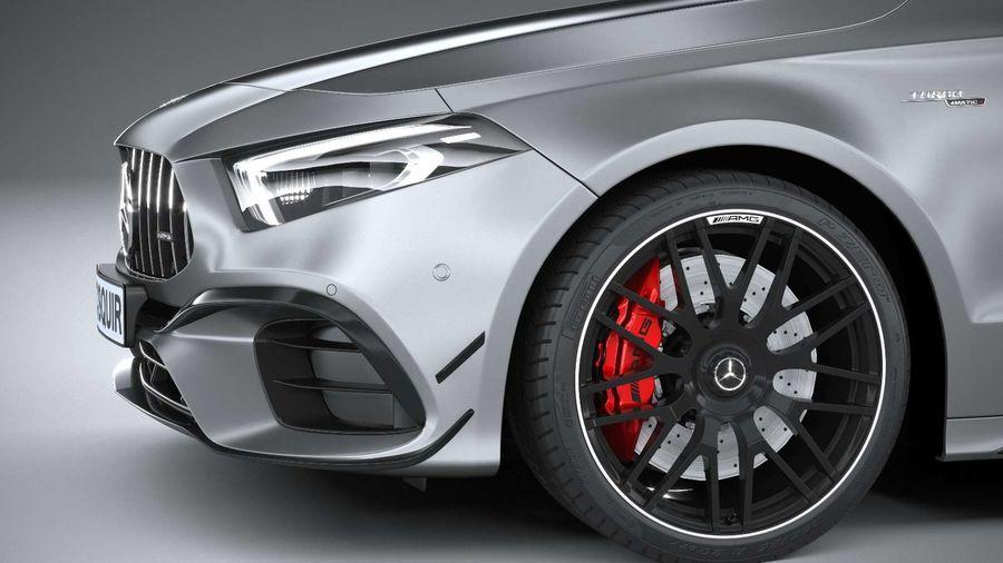 Mercedes-Benz A45 S AMG 2020 CoronaRender royalty-free 3d model - Preview no. 4