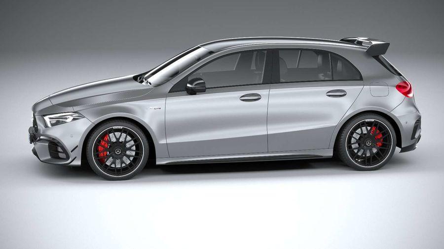 Mercedes-Benz A45 S AMG 2020 CoronaRender royalty-free 3d model - Preview no. 9