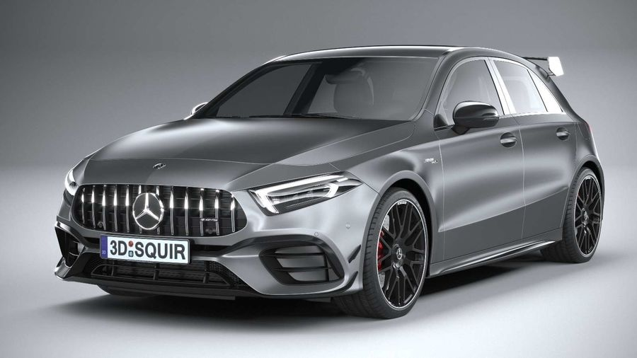 Mercedes-Benz A45 S AMG 2020 CoronaRender royalty-free 3d model - Preview no. 3