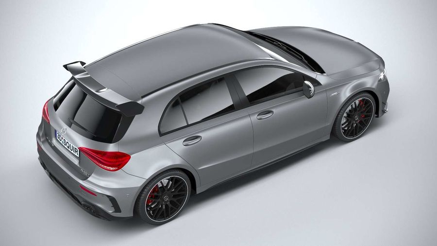Mercedes-Benz A45 S AMG 2020 CoronaRender royalty-free 3d model - Preview no. 11