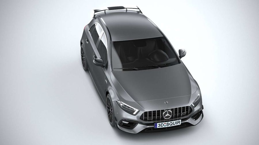 Mercedes-Benz A45 S AMG 2020 CoronaRender royalty-free 3d model - Preview no. 13