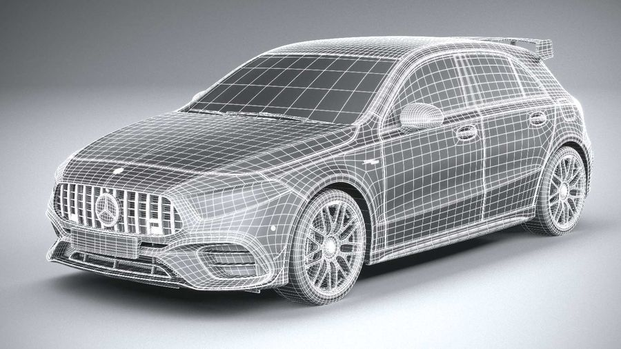 Mercedes-Benz A45 S AMG 2020 CoronaRender royalty-free 3d model - Preview no. 22