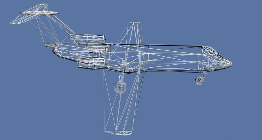Jakowlew Jak-40 - 3 Wątroby royalty-free 3d model - Preview no. 8
