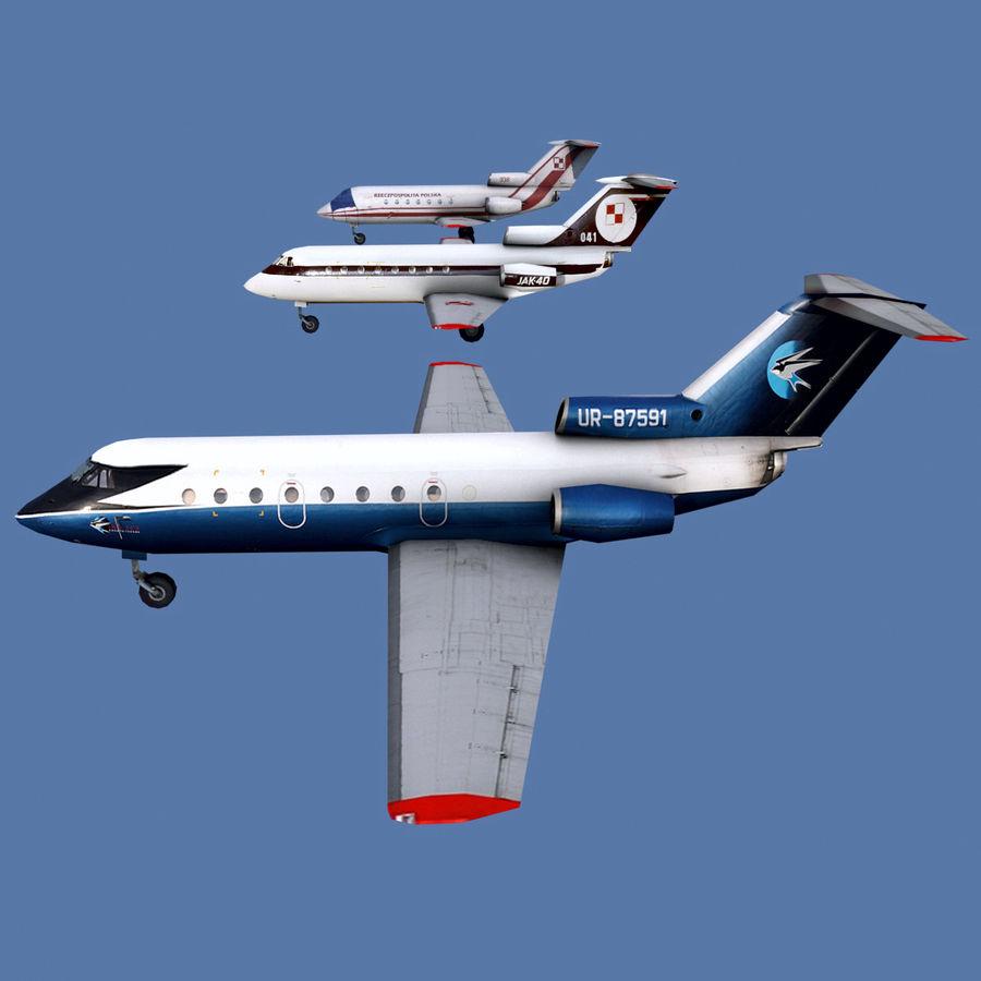 Jakowlew Jak-40 - 3 Wątroby royalty-free 3d model - Preview no. 1